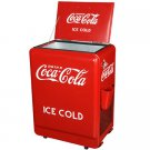 New Coca Cola replica 1932 style metal electric Coke machine - keeps drinks cold