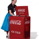 Brand new DRINK COCA COLA old style metal Coke electric ice box refrigerator