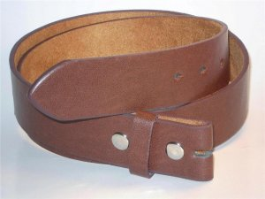 brown leather snap on belt for buckle size medium 32-34 new