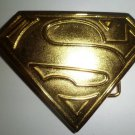 SUPERMAN GOLD buckle NEW FITS STANDARD hip hop SNAP BELTS