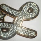 ICED OUT GOLD STAR L  BUCKLE NEW FITS STANDARD SNAP BELT HIP HOP BLING