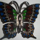 BUTTERFLY CHROME BUCKLE BLUE/RED/GREEN NEW FITS STANDARD SNAP BELT HIP HOP