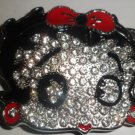 BETTY BOOP ICED/BLING GEM BUCKLE BLACK/RED NEW FITS STANDARD SNAP BELT HIP HOP