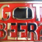 CHROME/RED GOT BEER BOTTLE OPENER BUCKLE NEW FITS STANDARD SNAP BELT HIP HOP