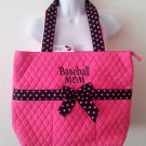NEW Belvah Quilted Purse baseballmom tote handbag  pink