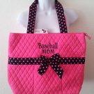 NEW Belvah Quilted Purse baseballmom tote handbag  pink