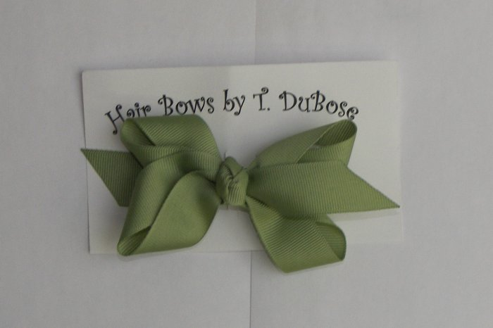 Sage Green Hair Bow