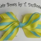 YELLOW & BLUE HAIR BOW
