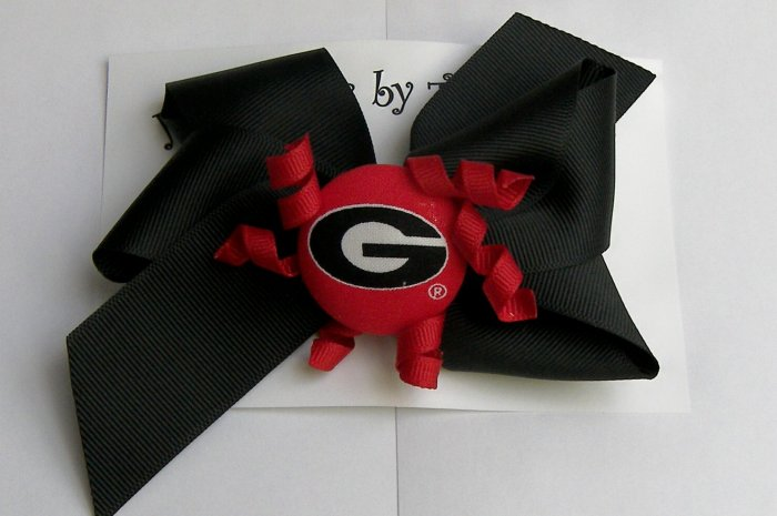 UNIVERSITY OF GEORGIA (UGA) HAIR BOW