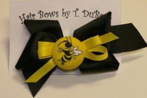 GEORGIA TECH YELLOW JACKETS HAIR BOW