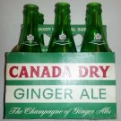 1960's Canada Dry Ginger Ale Six Pack Bottles