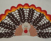 Thanksgiving Turkey Crochet Doily Pattern
