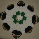 St. Patrick&#39;s Day Leprechaun & Pots of Gold Crochet Doily Pattern