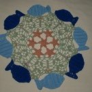 Circle of Fish Crochet Doily Pattern