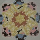 Peeking Bears and Bees Crochet Doily Pattern