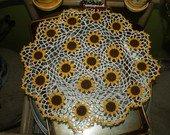 Crochet sunflower doily pattern