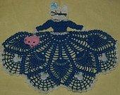 Kitty Cat Girl Doily Crochet Pattern