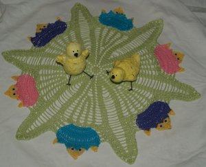Hatching Chicks Crochet Doily Pattern