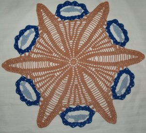 Crochet Dolphin and Starfish Doily Pattern