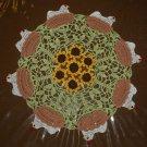 Crochet Chicken - Hen on Nest and Sunflower Doily Pattern