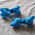 Turquoise Dots Bows
