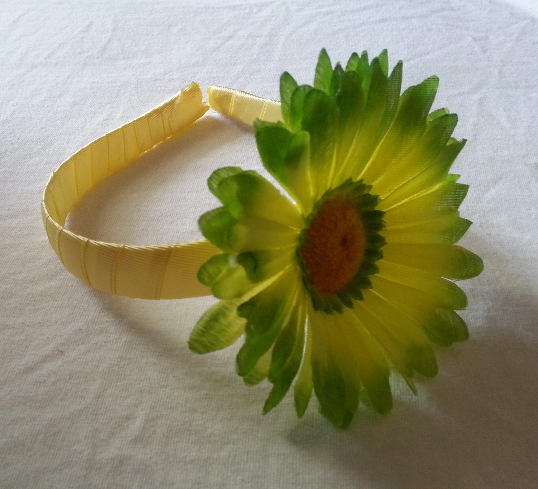 Yellow & Green Daisy Headband