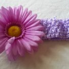 Lavender & Purple Crochet Headband