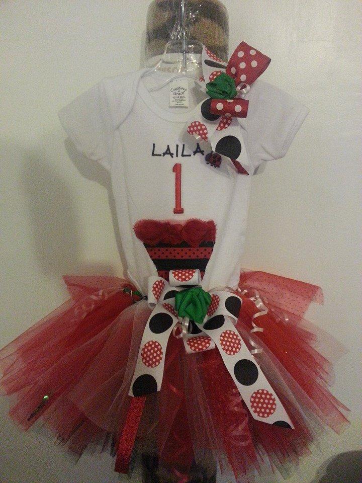 Ladybug Tutu Outfit 6-10 girls