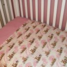 Pink Paisley Girl Teddy Bear Toddler Crib Bedding Set!