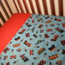 TRAINS - Crib/Toddler Blanket Set - Custom Made
