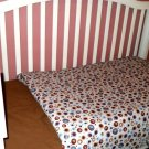 (NEW) Custom Handmade Crib Comforter & Fitted Sheet Set