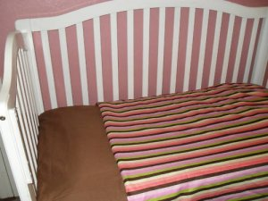 New Custom Multi Stripes Baby / Toddler Bedding Set