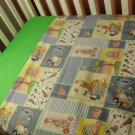 Custom Jungle Animal Patches Crib/Toddler  Bedding Set