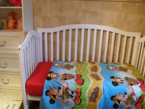 Custom Made Mickey Clubhouse Blanket &amp; Sheet Set
