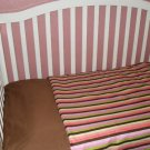 Bold Stripe Baby Comforter & YOU Pick Sheet Color Set!