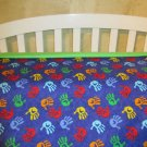 Little Hands Crib Comforter and Sheet  (you pick color)