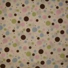 (NEW) Pretty Dots Brown, Pink, Green and Blue Bed Set