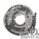 sd-LD0016 -1 Row White & Black Diamond Necklace