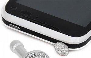 Clear Crystal Phone Charm