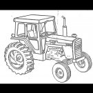 MASSEY FERGUSON MF 1155 TRACTOR PARTS MANUAL   + Part Number List