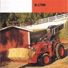 KUBOTA B1700 TRACTOR PARTS MANUALs - 780pg for B-1700 D E HSD Repair & Service