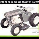 FARMETTE TRACTOR PARTS & OPERATION MANUALs for 45 75 95 450 650 Repair & Service