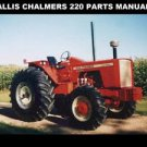 ALLIS CHALMERS 220 TRACTOR PARTS MANUAL -165pg for AC 220 FWA Service & Repair