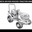 KUBOTA BX1850 BX2350 OPERATIONS MANUALs for BX 2350 Tractor & RCK Mower Service