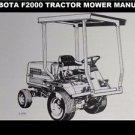 KUBOTA F2000 TRACTOR MOWER PARTS MANUAL for Kubota F-2000 Sweeper Repair