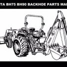 KUBOTA BH75 BH90 BACKHOE TRACTOR PARTS MANUALs for BH 75 90 Service & Repair