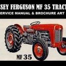 MASSEY FERGUSON MF35 TRACTOR SERVICE MANUAL 400pg w/ MF 35 Repair & Brochure Art