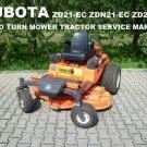 KUBOTA ZD21-EC ZD28 MOWER TRACTOR MANUAL - 250pg for ZD21N-EC Service and Repair