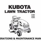 KUBOTA T1880 T2080 T2380 MANUAL w/ Garden Tractor Operation Service and Repair