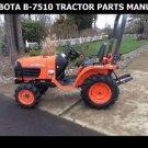 KUBOTA B7510 PART MANUAL SET 345pg for B-7510HSD Diesel Tractor Service & Repair